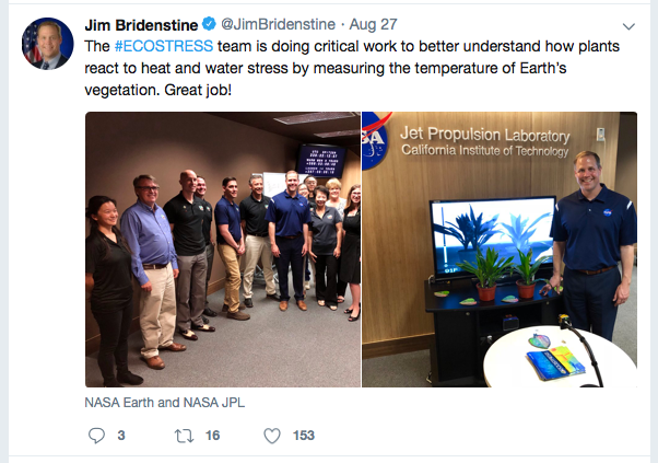 Jim Bridenstine's tweet